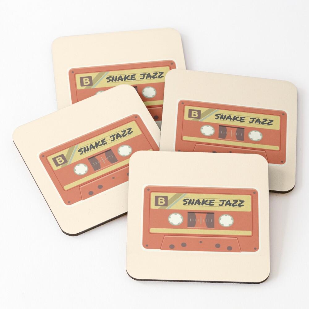 snake jazz: jams for galactic roadtrips  Coasters (Set of 4)