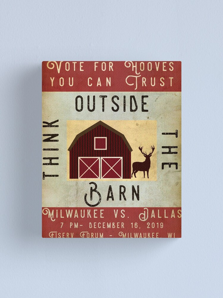 Alternate view of Vote for Hooves You Can Trust: Think Outside the Barn Canvas Print