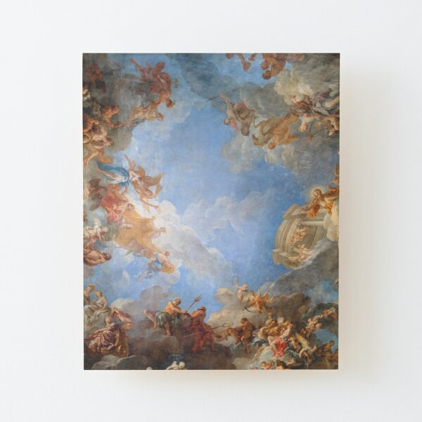 Fresco of Angels in the Palace of Versailles Wood Mounted Print