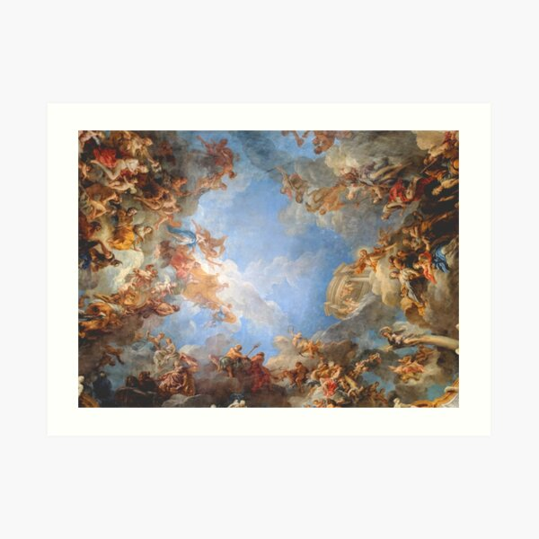 Fresco of Angels in the Palace of Versailles Art Print