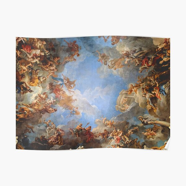 Fresco of Angels in the Palace of Versailles Poster