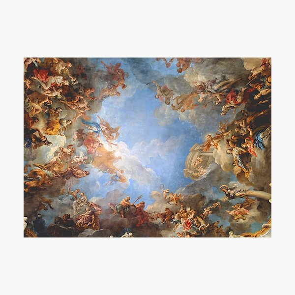 Fresco of Angels in the Palace of Versailles Photographic Print