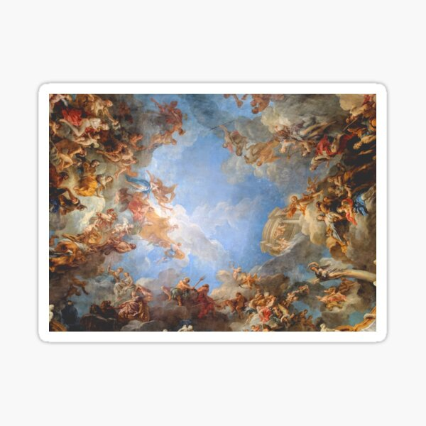 Fresco of Angels in the Palace of Versailles Sticker