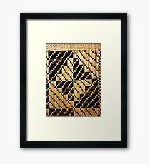 Beautifully Hand-woven Samoan Mat Framed Print