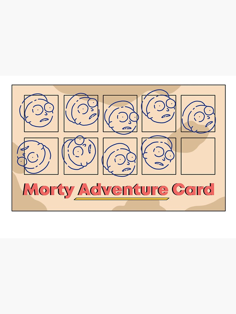 Rick and Morty   Morty Adventure Card by Mxdesign888