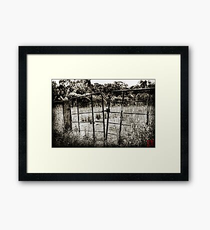 Out of Bounds Framed Print