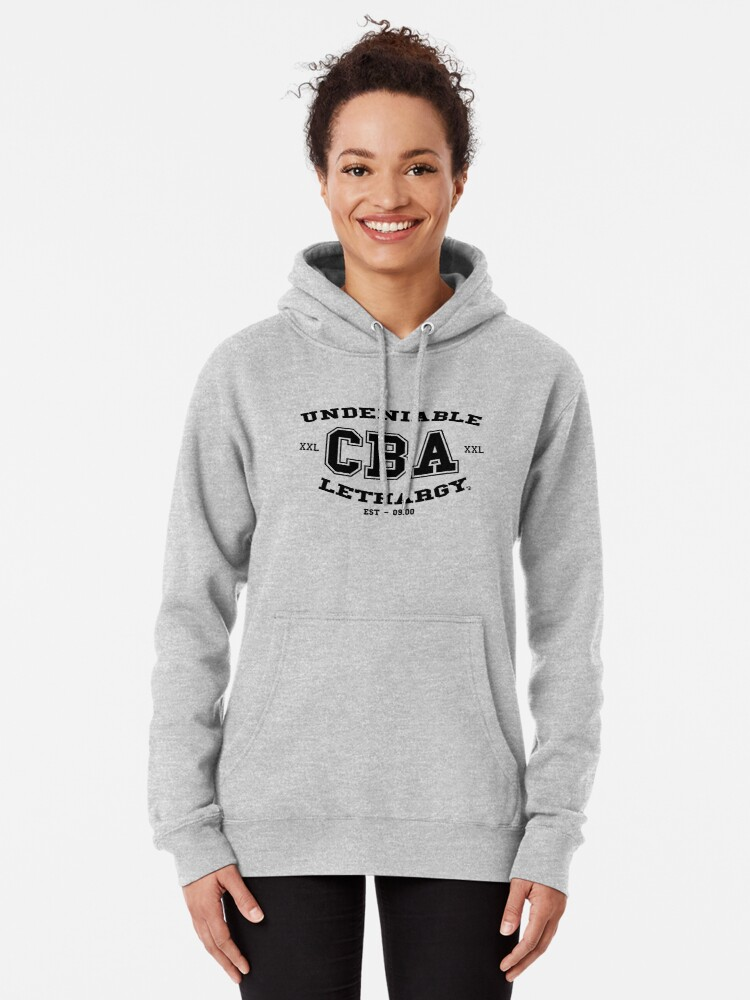 Alternate view of CBA-University (for light shirts & sticker)  Pullover Hoodie