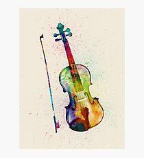 Violin Abstract Watercolor Photographic Print