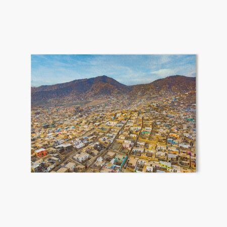 Kabul Afghanistan Homes Along Mountainside Art Board Print