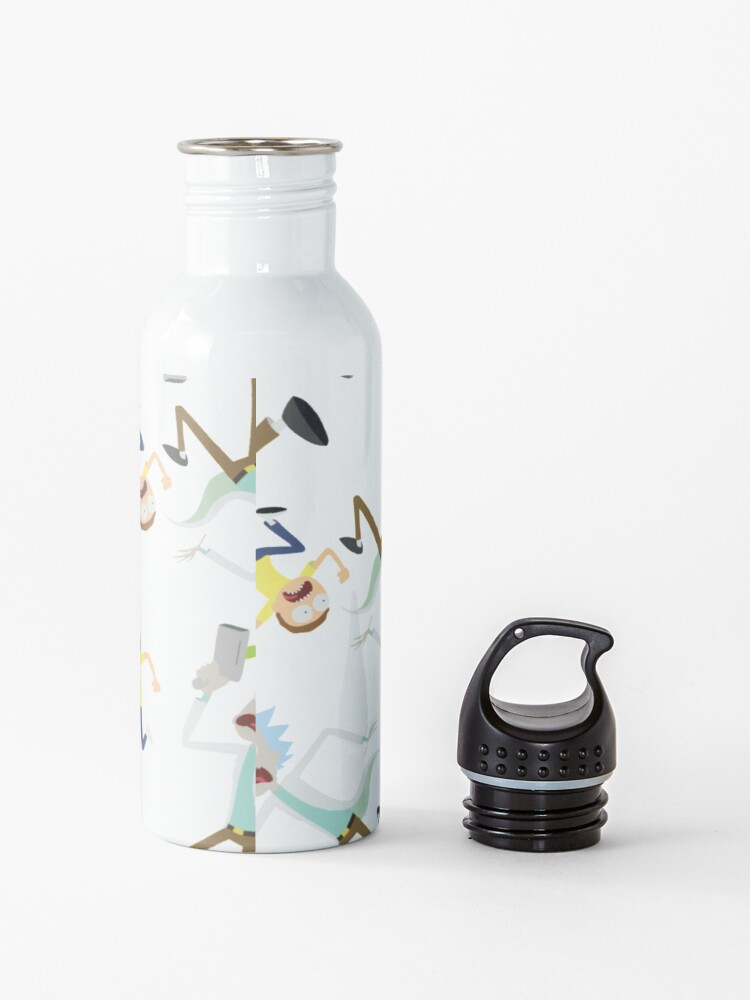 Alternate view of Rick and Morty - RUN MORTY! Pattern Water Bottle