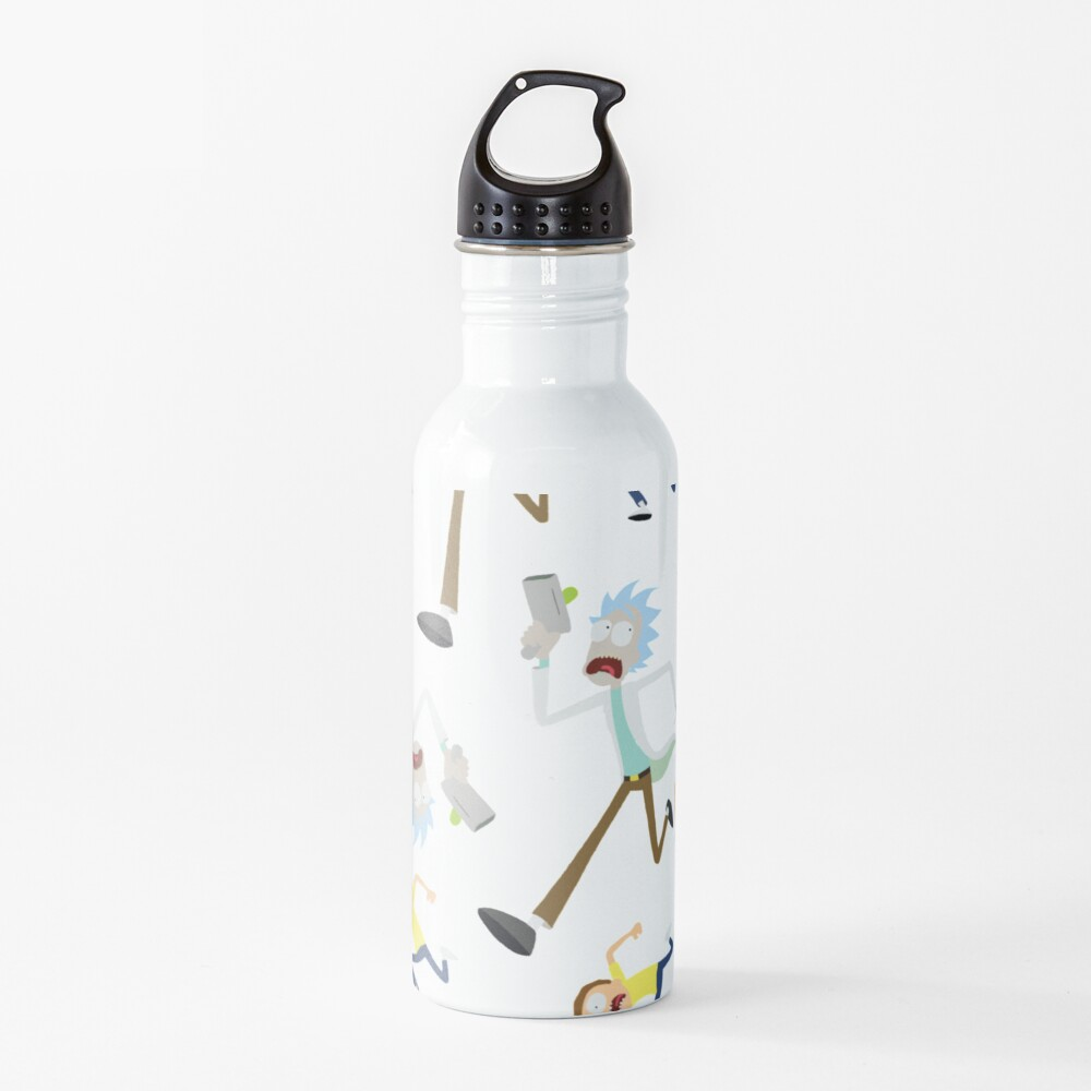 Rick and Morty - RUN MORTY! Pattern Water Bottle