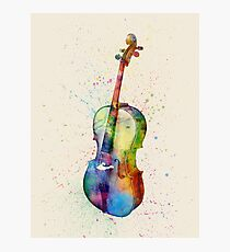 Cello Abstract Watercolor Photographic Print