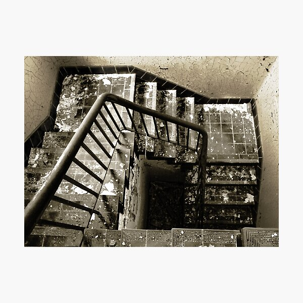 The Downward Spiral Staircase Photographic Print