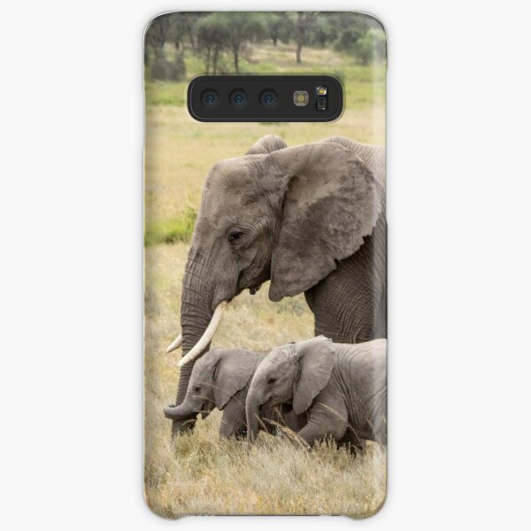 African Elephants: Adult With Two Young Samsung Galaxy Snap Case