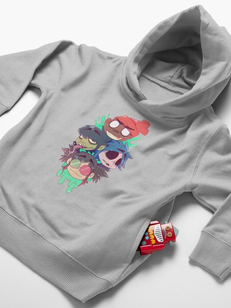 Alternate view of Gorillaz 2D  Toddler Pullover Hoodie