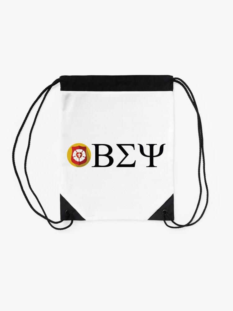 Alternate view of Beta Sigma Psi - badge Drawstring Bag