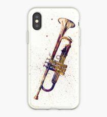Vinilo o funda para iPhone Trompeta Acuarela abstracta