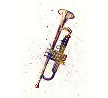 Trumpet Abstract Watercolor Photographic Print