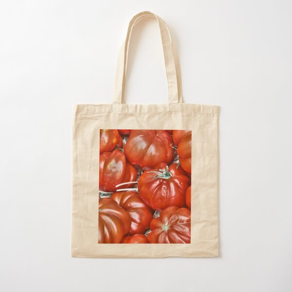 Big Red Tomatoes Cotton Tote Bag