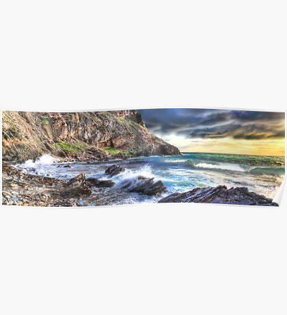Dramatic Seascape Panorama Poster