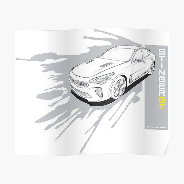 Kia Stinger GT Poster