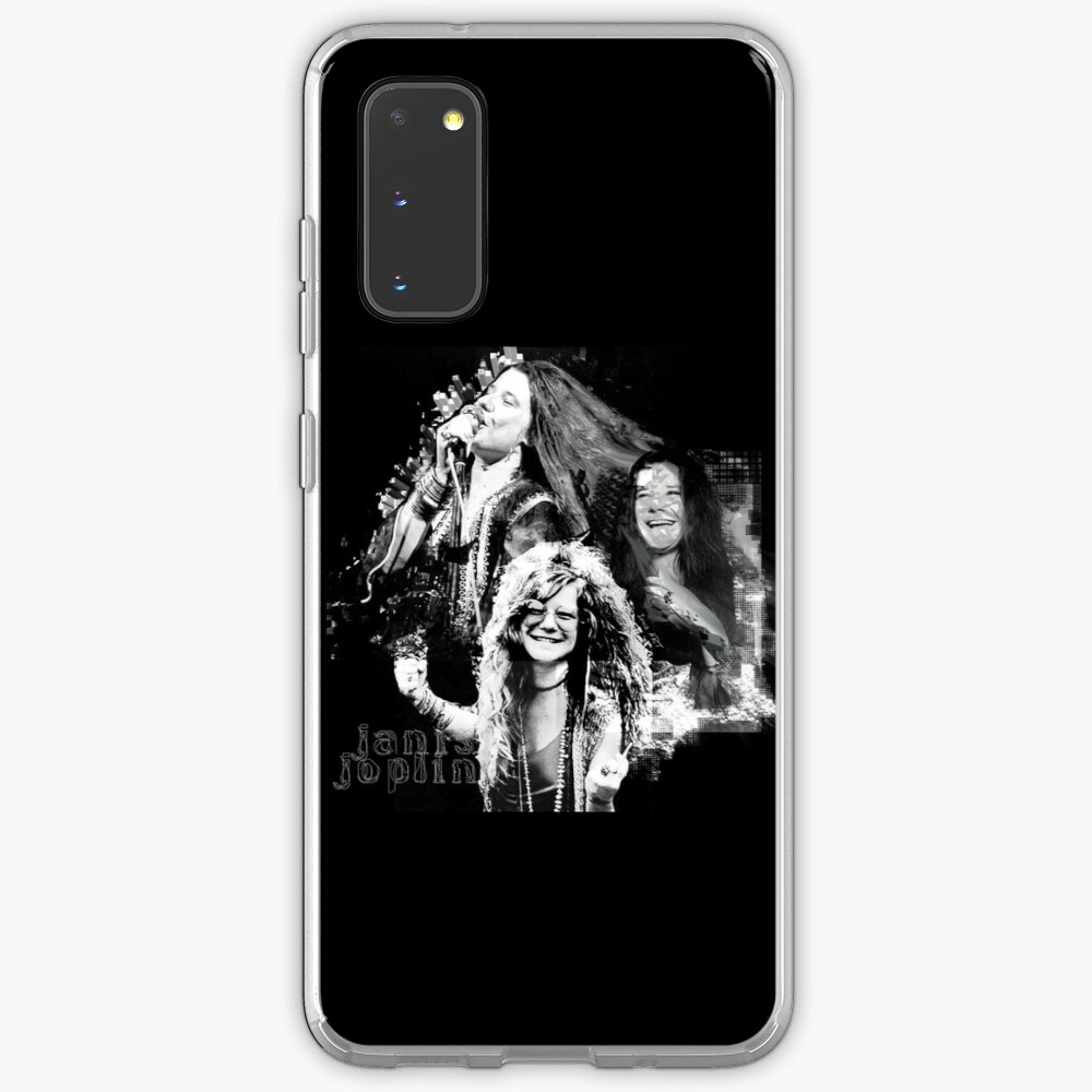 Janis Joplin Black - digital paint by Iona Art Digital Case & Skin for Samsung Galaxy