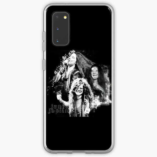 Janis Joplin Black - digital paint by Iona Art Digital Samsung Galaxy Soft Case