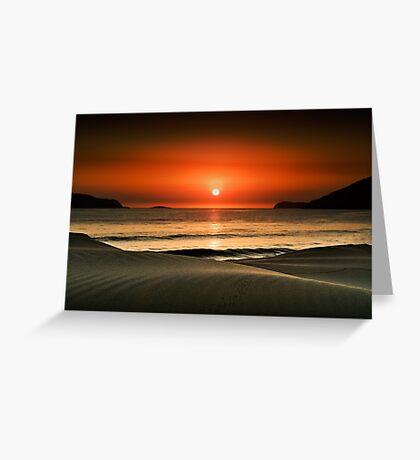 Waves at dawn Greeting Card