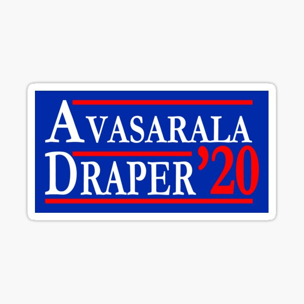 Elecciones de Avasarala Draper Earth Mars 2020 Pegatina