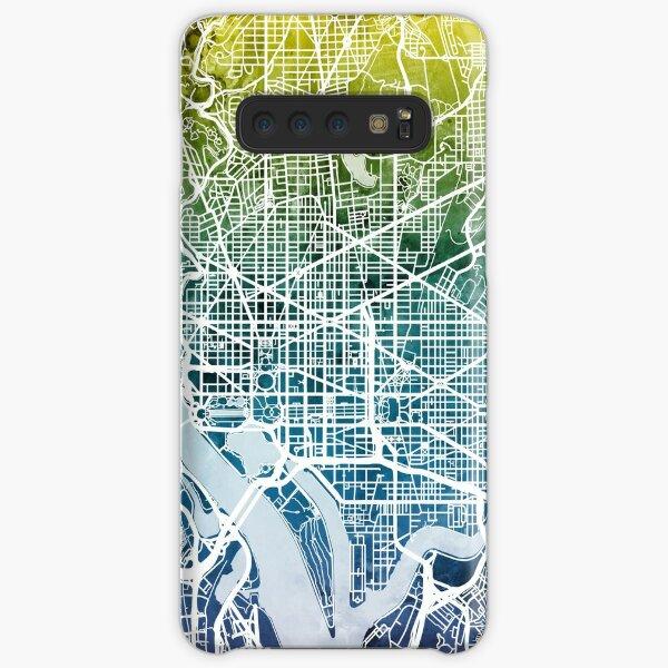 Washington DC Straßenkarte Samsung Galaxy Leichte Hülle
