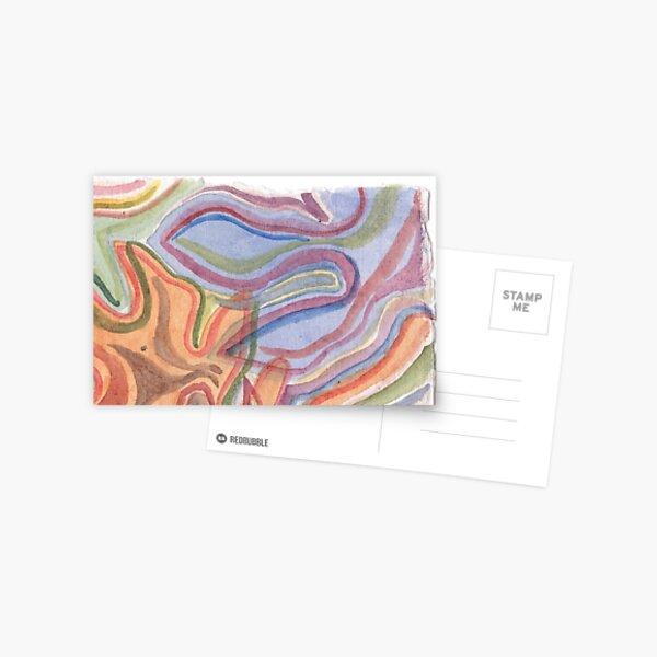Watercoloured shapes Postcard
