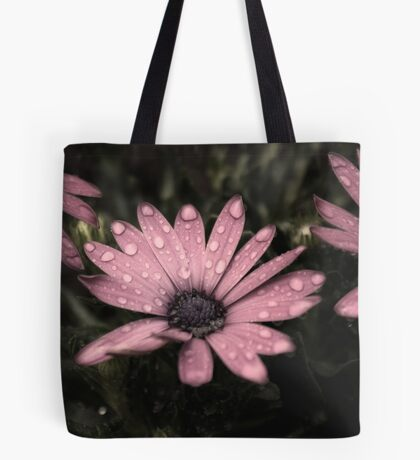 Wet Flowers Old Effect Tote Bag