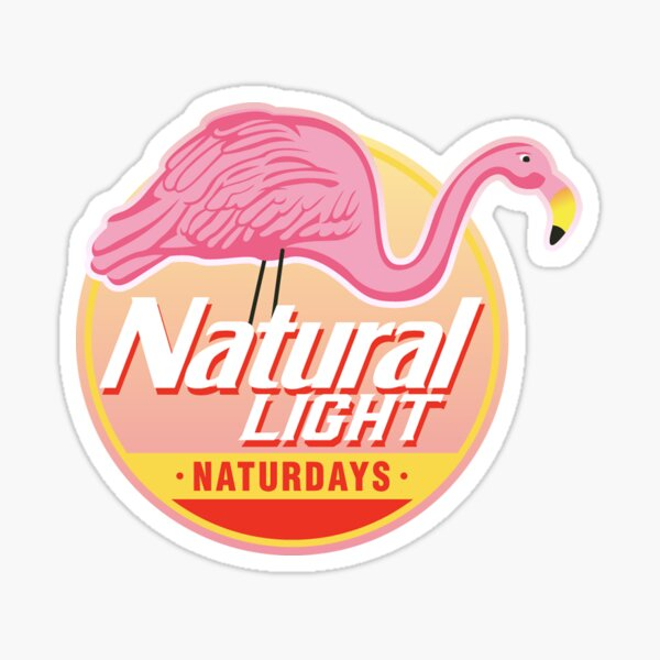 Natural Light Natty Naturdays Flamingo Circle Logo Sticker