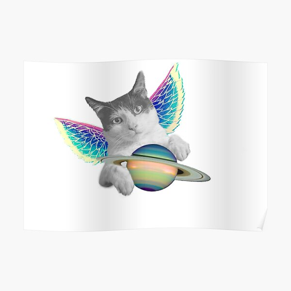 Astral Cat Poster