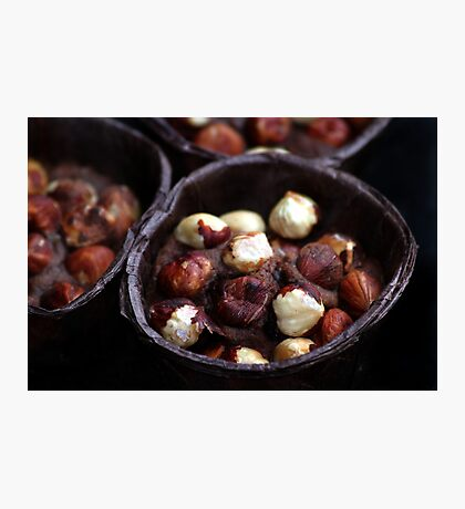 Chocolate Hazelnut Frangipane Tarts Photographic Print