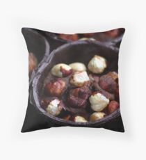 Chocolate Hazelnut Frangipane Tarts Throw Pillow