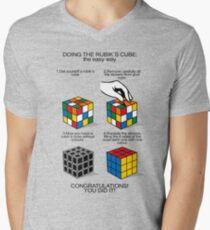 Rubik's Cube:The easy way Mens V-Neck T-Shirt