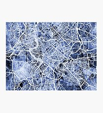Rome Italy City Street Map Photographic Print