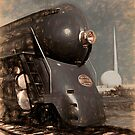 Streamliner Train Locomotive NYC Hudson by Glimmersmith