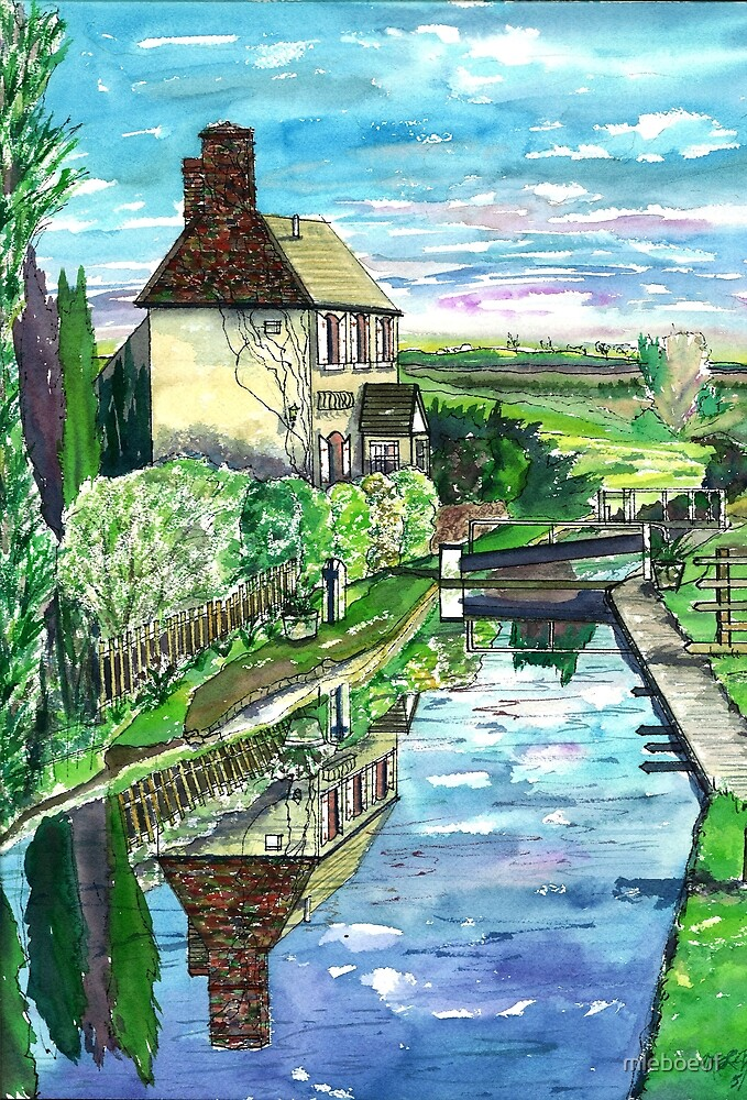 Lock & Keeper's Cottage - Somerton Lock by mleboeuf