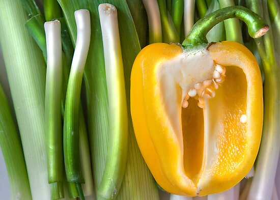 Yellow Pepper by Orla Cahill Photography