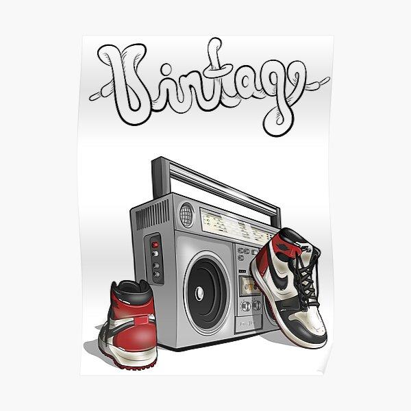 Vintage Hip-Hop-Basketball-Grafik Poster