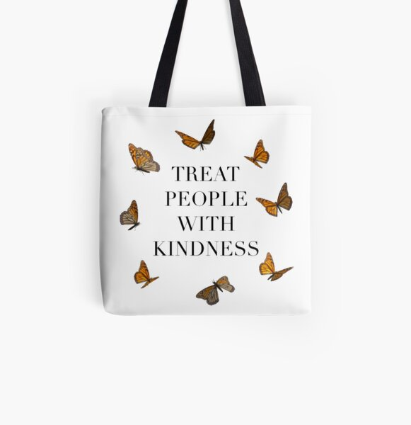 TREAT PEOPLE WITH KINDNESS BUTTERFLIES (HARRY STYLES) All Over Print Tote Bag
