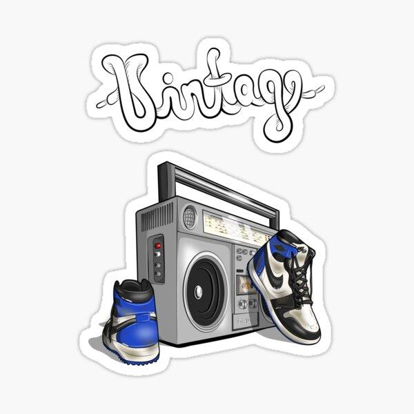 Vintage Hip-hop Basketball Graphic (Obsidian) Sticker