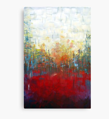 Red Landscape Perspective Canvas Print
