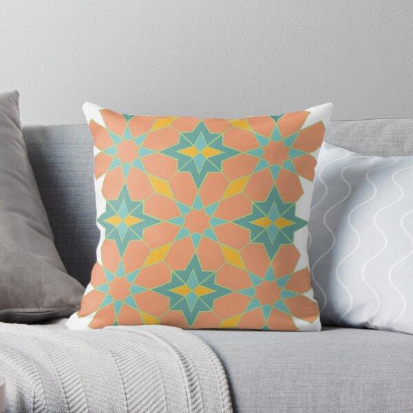 Islamic Geometric Pattern: Sunrise Throw Pillow