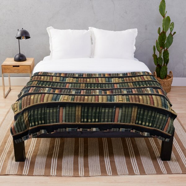 Endless Library (pattern) Throw Blanket