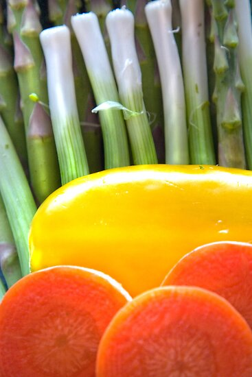 Vegetable Abstract by Orla Cahill Photography