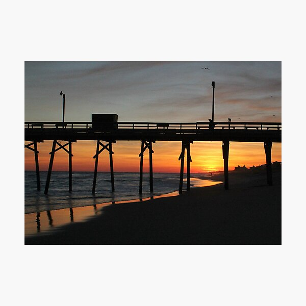 Bogue Inlet Pier at Sunset II Photographic Print