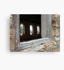 Church Windows, Gooloogong (NSW) Canvas Print